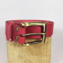 ceinture rouge et laiton...