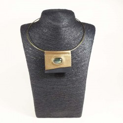 Collier Bronze et labradorite